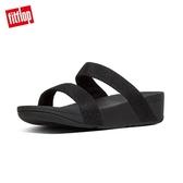 【FitFlop】LOTTIE GLITZY SLIDES 經典水鑽涼鞋-女(黑色)