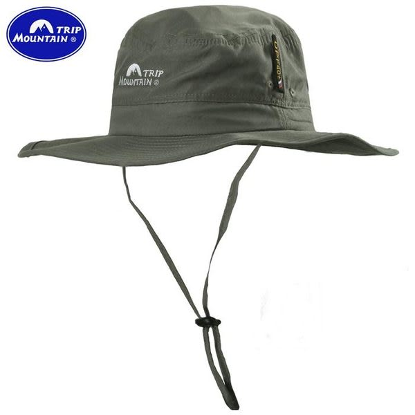 我愛買#山行圓頂漁夫帽(UPF40+)寬邊帽圓盤帽圓邊帽擴邊帽闊葉帽大盤帽遮陽帽戶外休閒帽防曬帽