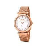 【Folli Follie】Sparkle Chic浪漫晶鑽時尚米蘭腕錶- 玫瑰金/WF16R022BSS_XX/台灣總代理公司貨享兩年保固