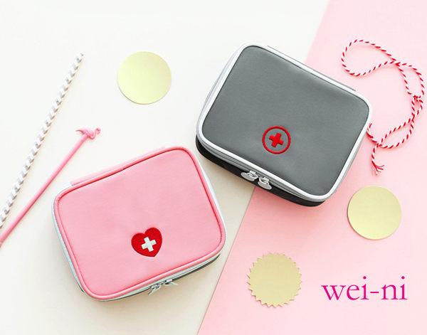 wei-ni 立體式WeekEight急救包 (小) 隨身藥物整理袋 旅行藥物收納袋 可當簡易3C收納包 隨身萬用包