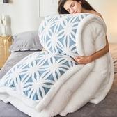 被子冬被棉被加厚保暖10斤雙面羊羔絨冬季全棉被芯單雙人學生宿舍 KV5047 【野之旅】