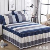 純棉床裙式床罩單件1三件套5全棉2米1.8m防滑8床套蕾絲邊100%床單 js5742『小美日記』