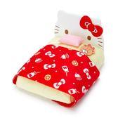 〔小禮堂〕Hello Kitty 迷你床造型絨毛玩偶家俱《紅》置物架.絨毛收納 4901610-30635