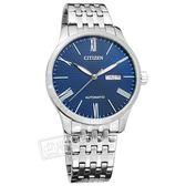 CITIZEN 星辰表 / NH8350-59L / 限量 機械錶 自動上鍊 礦石強化玻璃 日期星期 不鏽鋼手錶 藍色 40mm