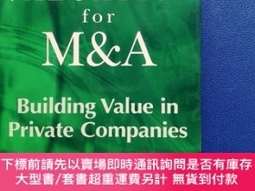 二手書博民逛書店VALUATION罕見for M&A(Building Value in Private Companies)