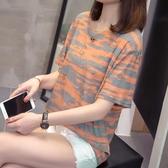 加肥加大尺碼女裝新款夏裝短袖T恤胖妹妹顯瘦減齡寬鬆半袖上衣