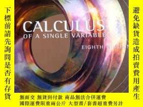 二手書博民逛書店CALCULUS罕見OF SINGLEE VARIABLE 一 微積分(英文原版)2006年印刷Y11897