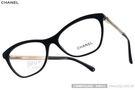 CHANEL 光學眼鏡 CN3285 C501 (黑) 奢華時尚典雅簡約款 平光鏡框 # 金橘眼鏡