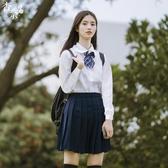 女jk制服夏季白襯衫短裙校服套裝高中學院風畢業班服聖誕交換禮物