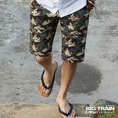 BIG TRAIN  加大雙面穿五分褲-男-灰綠
