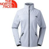 【The North Face 美國 女款 防風外套《淺灰》】364G/防水/透氣/抓絨背襯★滿額送
