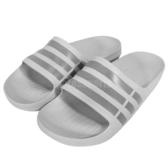 adidas 拖鞋 Duramo Slide 灰 運動拖 三條線 男鞋 女鞋 涼拖鞋 男女款【PUMP306】 B44298
