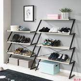 鞋架 簡易多層門廳鞋架家用經濟型鐵藝收納架鞋櫃組裝防塵門口鞋架【美人季】