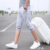 夏季沙灘短褲男士韓版修身七分 E家人