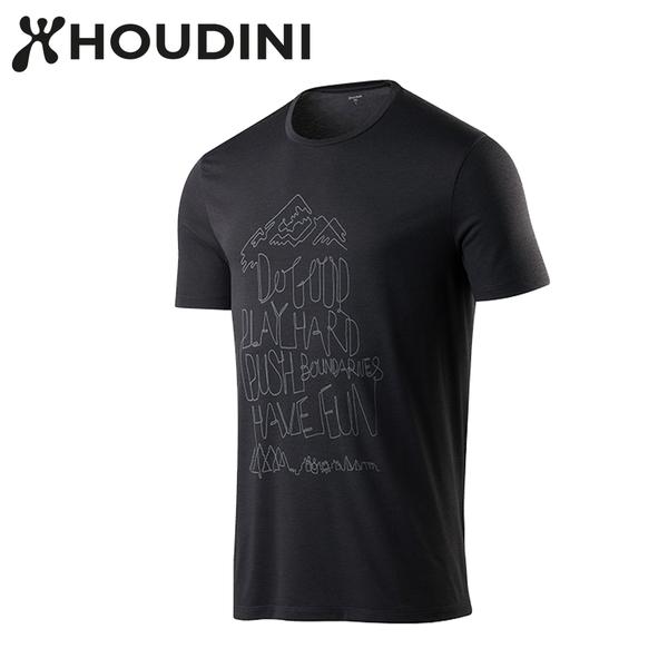 瑞典【Houdini】M`s Big Up Message Tee 黑  237894