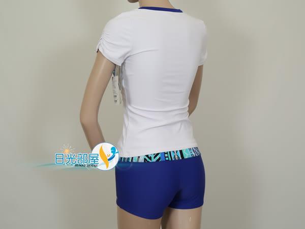 *日光部屋* arena (公司貨)/LSS-6375WA-BLU UPF 50+/大女二件式泳裝