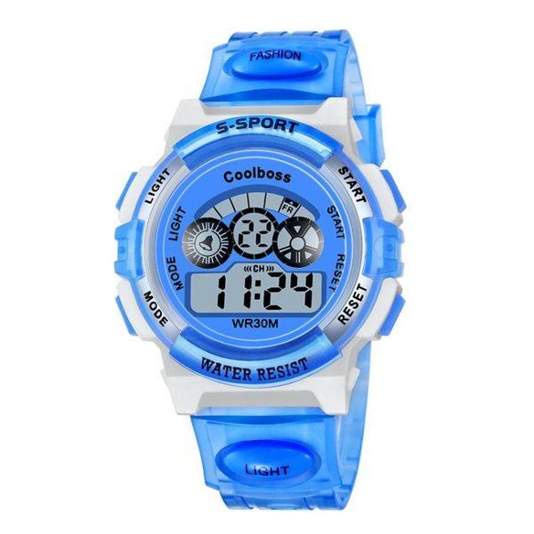 兒童手錶男孩電子錶男小學生運動手錶女童電子手錶防水夜光數字式 免運直出 聖誕交換禮物