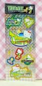 【震撼精品百貨】Hello Kitty 凱蒂貓~KITTY閃亮貼紙-小黃鳥崔西Tweety聯名款-滑板綠