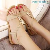 【618好康又一發】羅馬女鞋波西米亞涼鞋平底休閒鞋