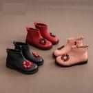 女童鞋兒童馬丁短靴子新款秋季秋冬款冬季小寶寶公主皮鞋加絨  童趣屋