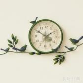 創意田園掛鐘個性時鐘 北歐家用客廳臥室復古裝飾鐘表簡約靜音 FF3853【衣好月圓】