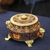 香爐 藏式浮雕琺瑯彩繪檀禪意銅仿古大號盤泰國佛堂供奉 - 夢藝家
