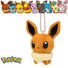 伊布 娃娃吊飾 玩偶 Q版 Pokemon 寶可夢 神奇寶貝 日本正品 該該貝比日本精品 ☆