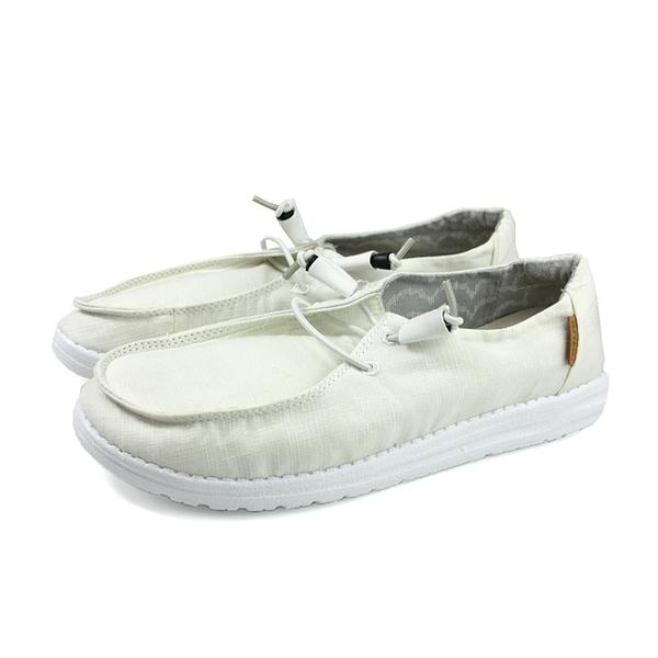 Hey Dude 休閒鞋 帆船鞋 帆布 女鞋 白色 HD1901-807 no003