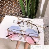 眼鏡 墨鏡女新款韓版潮復古原宿風太陽眼鏡漸變色防紫外線 居優佳品