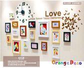 壁貼【橘果設計】PF17 進口實木相框牆 藍丁膠不傷牆設計 創意照片牆 相框組合壁貼 壁紙
