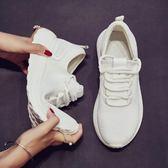 運動鞋女新品夏季新輕便透氣網鞋情侶跑步鞋正韓原宿健身男鞋白色免運直出 交換禮物