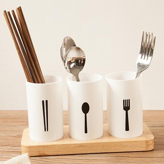 簡約瀝水筷子籠 廚房 餐具 湯匙 湯勺 通風 衛生 乾淨 桌面 擺設 分格【F078】MY COLOR