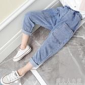 女童新款中大童韓版休閒褲長褲兒童牛仔褲潮 錢夫人小鋪