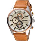Timberland 天柏嵐 雙時區休閒皮帶錶(TBL.15953JSTBN/04)46mm
