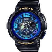 BGA-190GL-1B 黑X藍 BABY-G 海灘旅行系列休閒腕錶