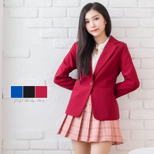 修身外套/平袋單釦西裝外套【Sebiro西米羅男女套裝制服】026000297