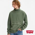 Levis 男款 機能系工裝大學T / 大口袋收納 / Oversize寬鬆版型 / 橄欖綠