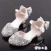 女童高跟公主鞋演出皮鞋禮服裙閃亮舞臺水晶鞋【奇趣小屋】