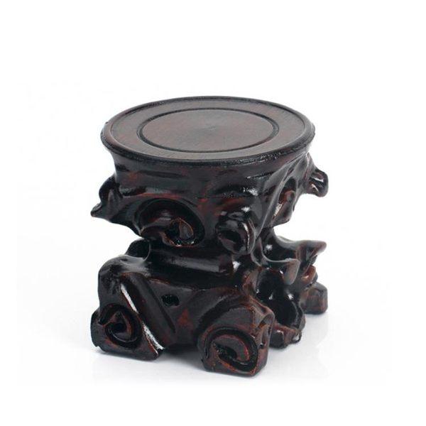 實木藝根雕 單元高圓型工藝品茶具花瓶底座木座 萬客居