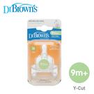 Dr. Browns布朗醫生 防脹氣寬口奶嘴 Y字~9+月奶嘴(兩入)