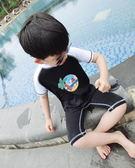 萬聖節大促銷 純色海2017新款夏季兒童泳衣超高彈力修身游泳連身服男童潛水服