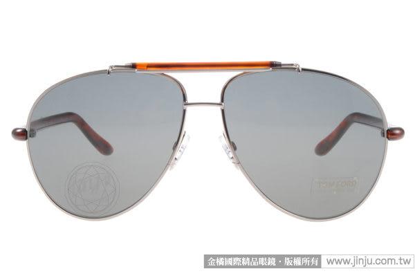 TOM FORD 太陽眼鏡 TOM244 10P (灰-琥珀) 時尚型人飛官款 # 金橘眼鏡