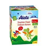 Alete香蕉蘋果草莓果泥-飛行龍包裝90gX4包  6個月大以上幼兒適用【德芳保健藥妝】