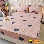 單件全棉雙人床包夾棉加厚席夢思保護套床墊套純棉床包防滑全包【happybee】