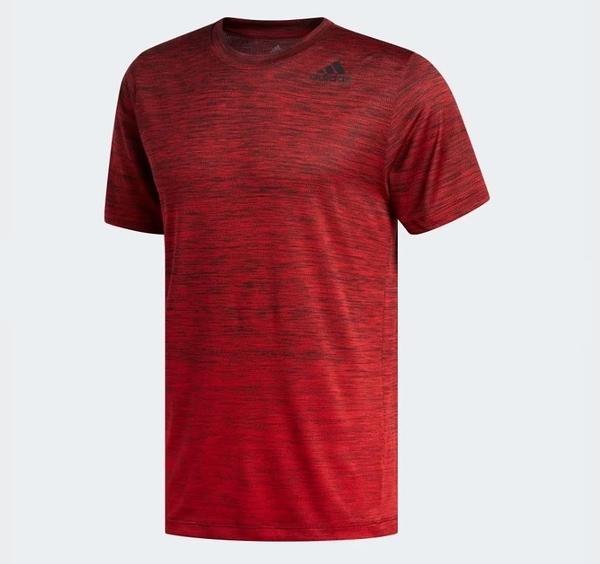 Adidas GRADIENT TEE 男款紅色運動短袖上衣-NO.FL4395