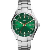 FOSSIL Belmar 新時代手錶-綠x銀/44mm FS5533