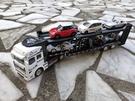 汽車運輸車 拖板車 卡車頭 可載運多美小...