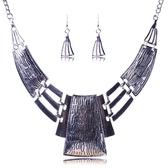 項鍊鍍銀+耳環-異國風情高雅復古女毛衣鍊2色73nt35【時尚巴黎】
