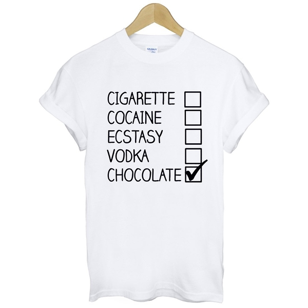 CHOOSE CHOCOLATE短袖T恤-2色 選擇巧克力 文青 藝術 設計 時髦 文字 時尚 趣味 諷刺