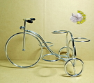 [腳踏車造型仙人掌多肉鐵架] 1個架子可以放4盆1吋盆。植物可另外加價購買